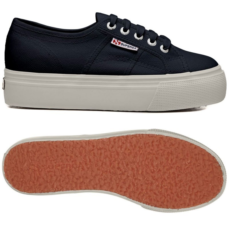 Superga Platform 2790 Up And Down Colore Blu Navy Sneaker Donna