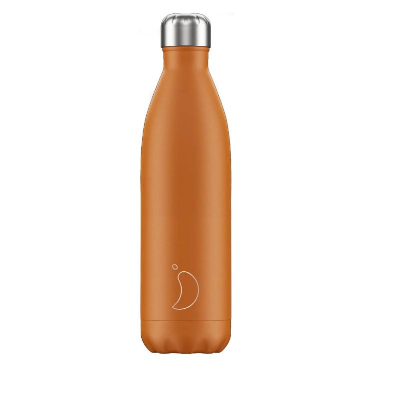 Chilly's Bottle 750ml Matte Orange Burn b750maorb