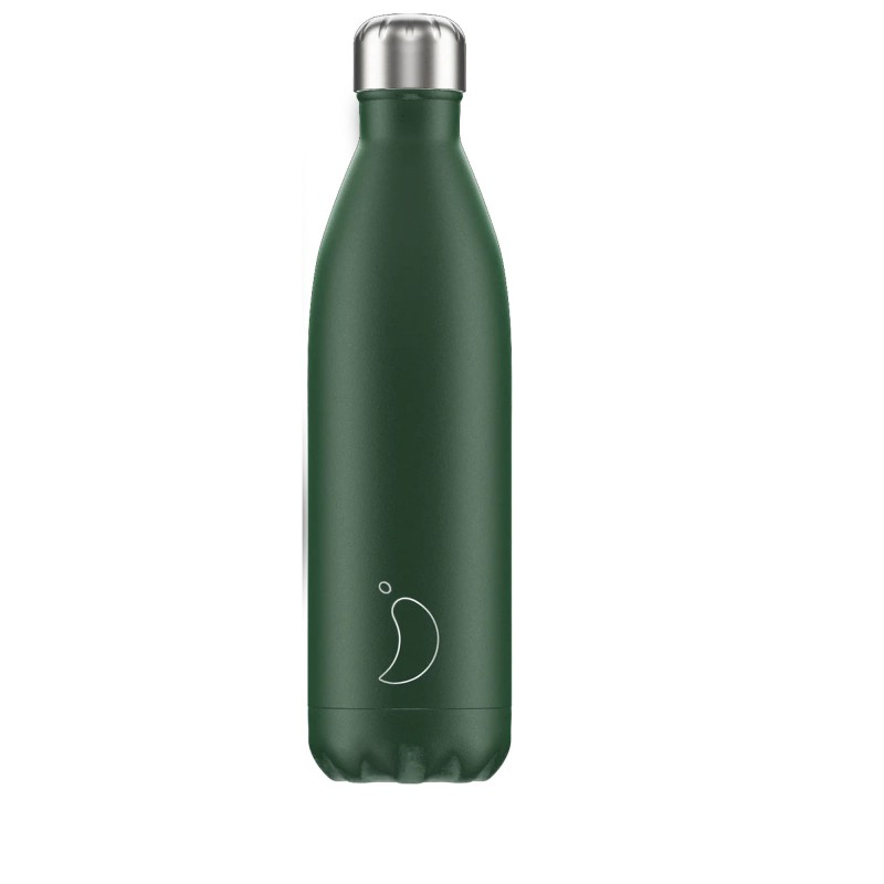Chilly's Bottle 750ml Verde Opaco Matte Green b750magrn
