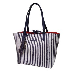 Borsa Shopping PashBag Paris Seventies 9490 blu Atelier Du Sac