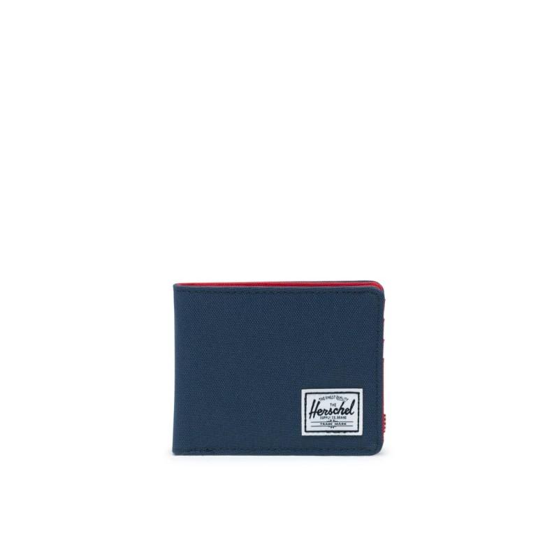 Herschel Portafoglio Compatto RFID Con Portamonete Unisex  Blu