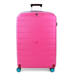 Roncato Trolley Medio Box Young 4 Ruote Rigido Azzurro Magenta Made in Italy