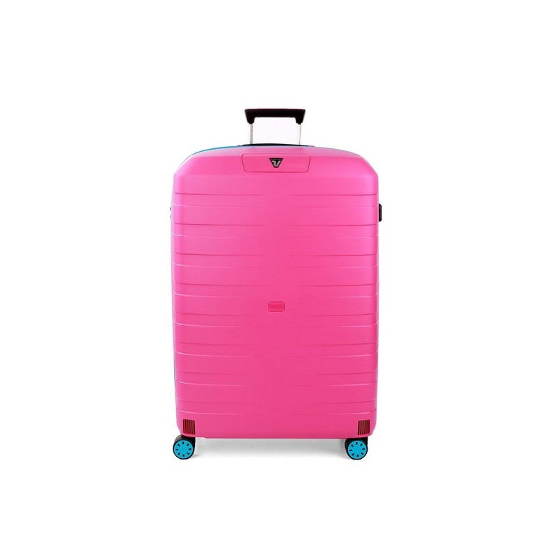 Roncato Trolley Grande Box Young 4 Ruote Rigido Azzurro Magenta Made in Italy