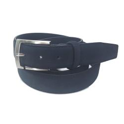 Cintura Uomo Roncato Blu Scamosciata Pelle