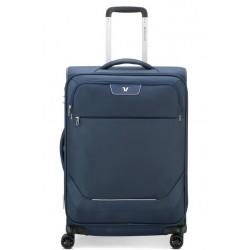 Roncato Trolley Grande Espandibile 4 Ruote Blu Joy Chiusura TSA