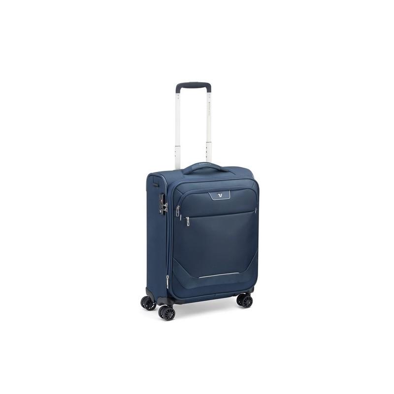 Roncato Trolley Cabina Ryanair Espandibile 4 Ruote Blu Joy