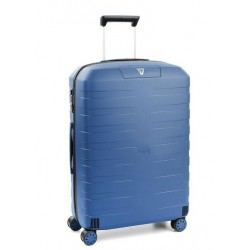 Roncato Trolley Medio Box 2.0 4 Ruote Rigido Blu Made in Italy