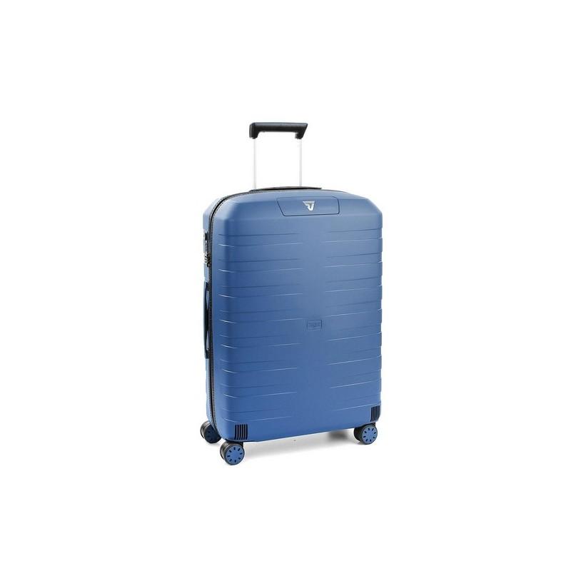 Roncato Trolley Medio Box 2.0 4 Ruote Rigido Blu Made in Italy