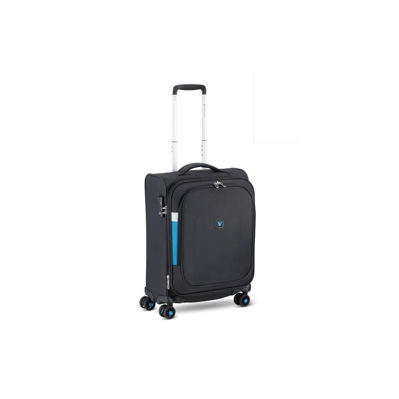 Roncato Trolley Cabina Ryanair Espandibile 4 Ruote Nero Chisura TSA