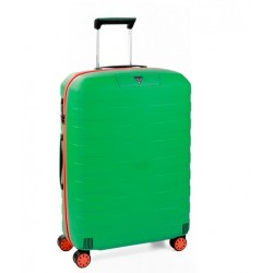 Roncato Trolley Medio Box Young 4 Ruote Rigido Verde Made in Italy