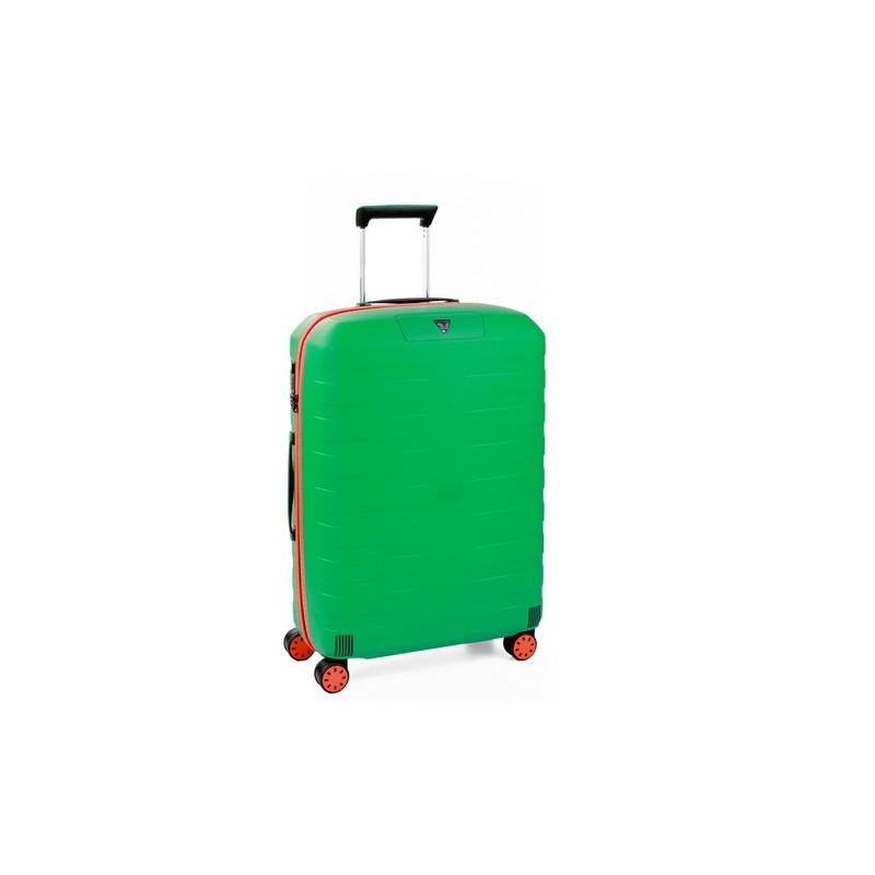Roncato Trolley Medio Box Young 4 Ruote Rigido Verde Made in Italy