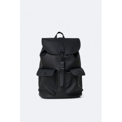 "Rains Zaino Camp Backpack Nero 15"" Laptop"