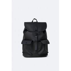 """Rains Zaino Camp Backpack Nero 15"""" Laptop"""