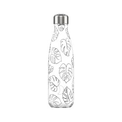 Chilly's Bottle 500ml Line Art Drawing Leaf Foglie b500trele