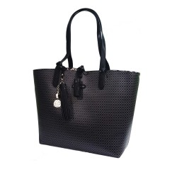 Borsa Shopping PashBag Paris Polka Pup nero 10037 Atelier Du Sac