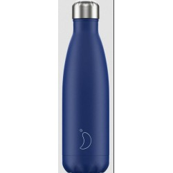 Chilly's Bottle Blu Opaco Matte Blue 500ml Bottiglia Termica Acciaio