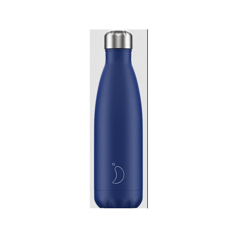 Chilly's Bottle Blu Opaco Matte Blue 500ml Bottiglia Termica Acciaio