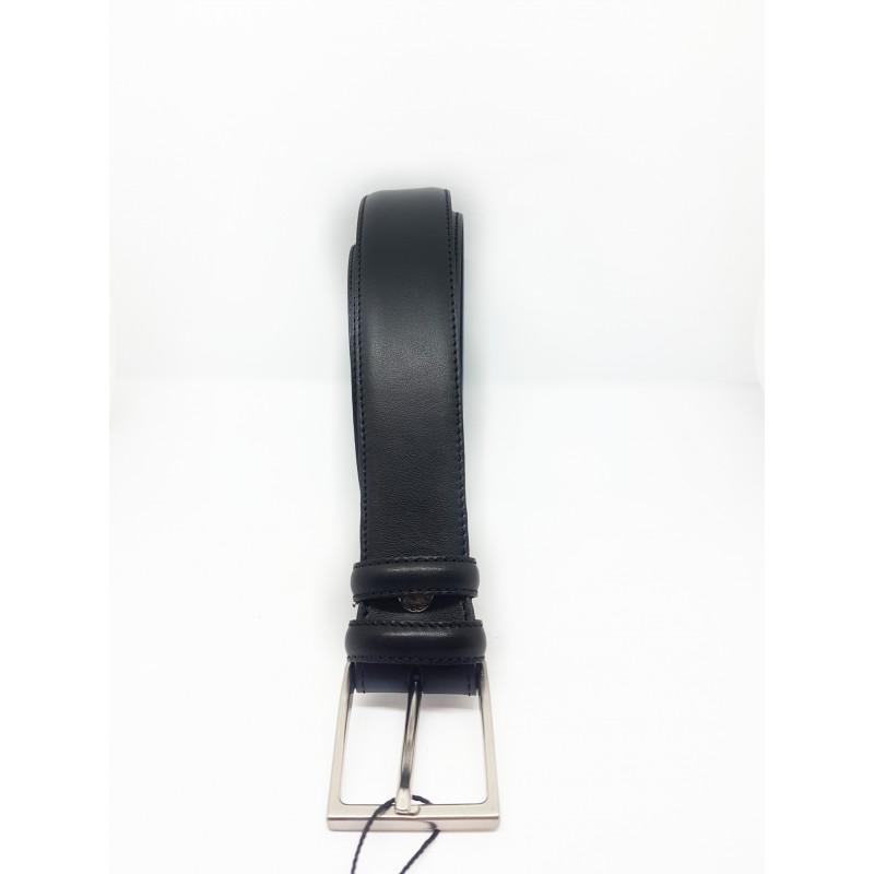 Cintura XL Uomo Taglie Forti Nero Vera Pelle Made in Italy