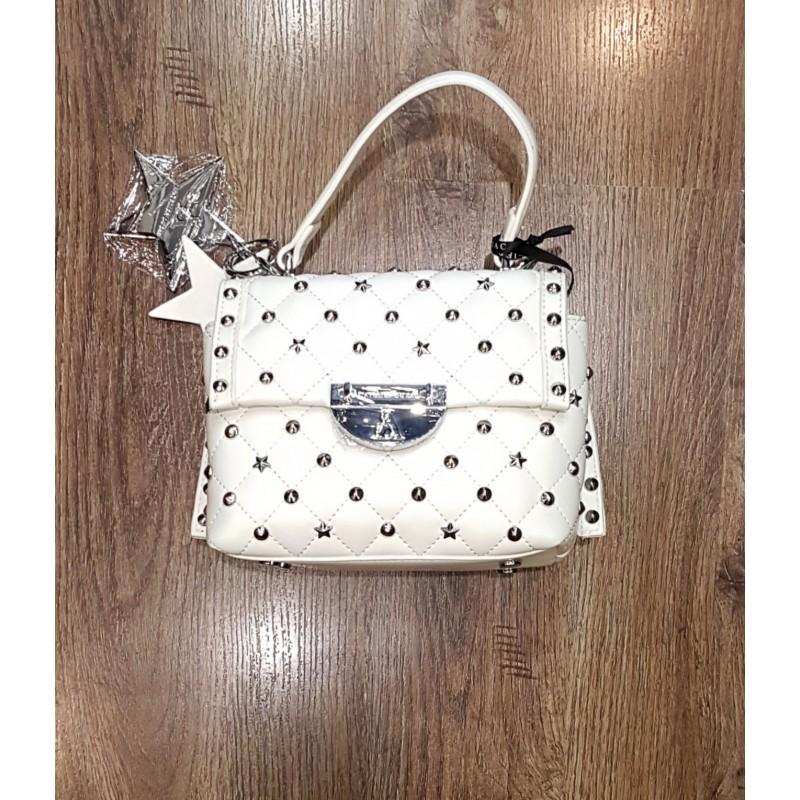 Pashbag Rebel Mini Bag Con Manico E Tracolla Bianco Atelier du Sac Shelly 10584-REB-91M