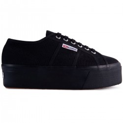Superga Full Black 4 Cm 2790 Nero Sneaker Donna