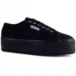 Superga Full Black 4 Cm 2790 Nero Sneaker Donna