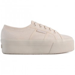 Superga Total Beige Raw 4 Cm 2790 Beige Sneaker Donna