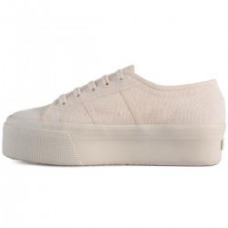 Superga Total Beige Raw 4 Cm 2790 Beige Sneaker Donna