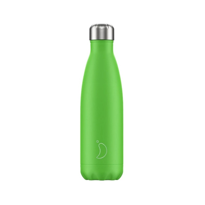 Chilly's Bottle Neon Edition Verde 500ml Borraccia Termica Acciaio