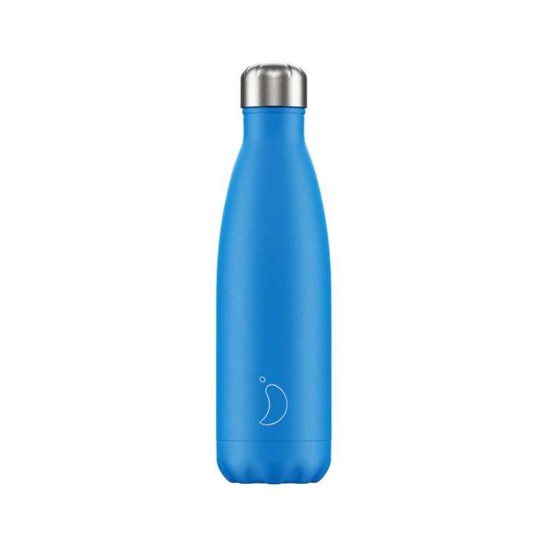Chilly's Bottle Neon Edition Blue 500ml Borraccia Termica Acciaio