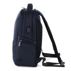Roncato Zaino Piccolo Porta Computer Tablet 14 Pollici Presa USB Blu