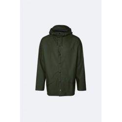 Rains Jacket Impermeabile Verde 1201