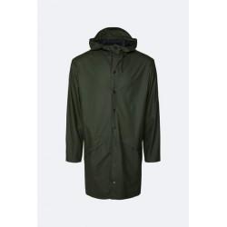 Rains Long Jacket Impermeabile Verde 1202
