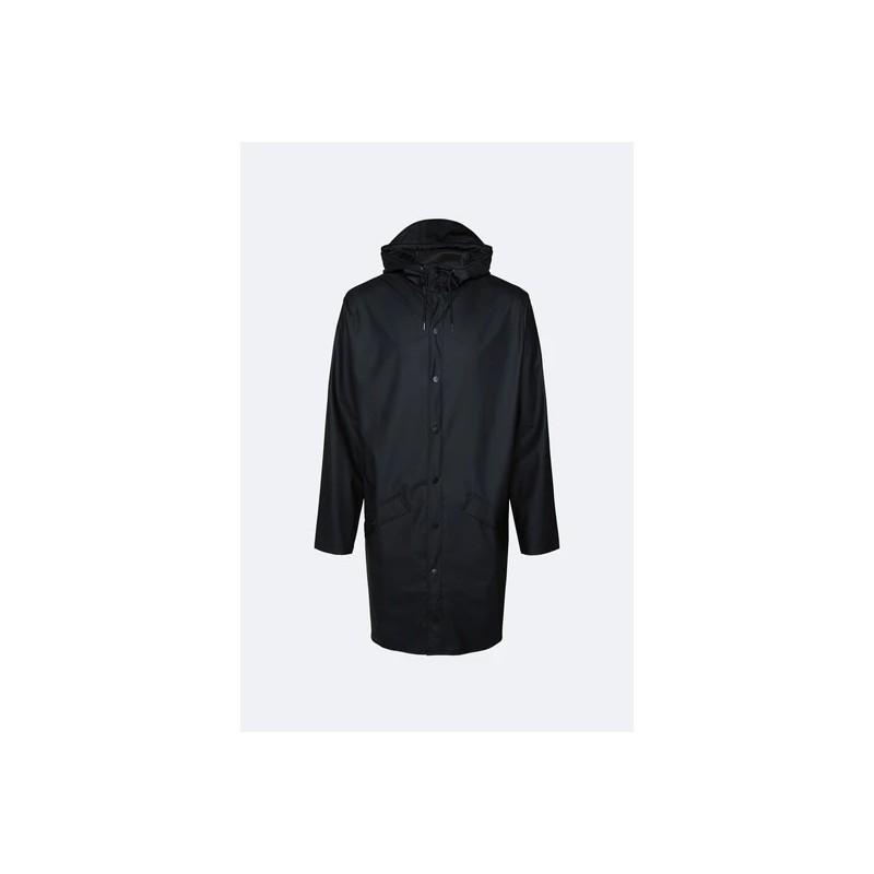Rains Long Jacket Impermeabile Nero 1202