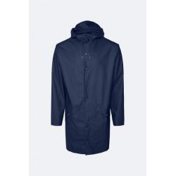 Rains Long Jacket Impermeabile Blu 1202