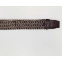 Cintura Uomo Intrecciata Marrone Cotone misto Pelle