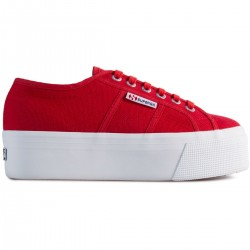 Superga Platform 4 Cm Red Flame A2H 2790 Sneaker Donna