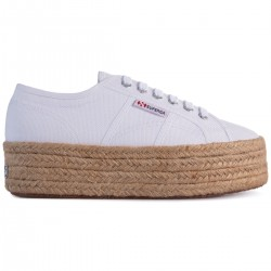 Superga Platform 4 Cm Espradillas Rope Bianco 901 Sneaker Donna S51186W