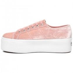 Superga Velvet Pink 2790 Sneaker Donna Platform