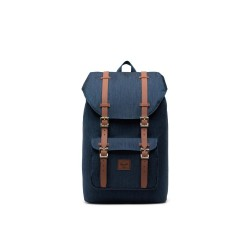 "Herschel Little America Mid Zaino  Indigo Denim Crosshatch 13"" Laptop Articolo 10020"