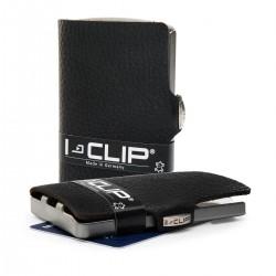 IClip Classico Smart Wallet Mini Portafoglio Unisex Nero Vera Pelle