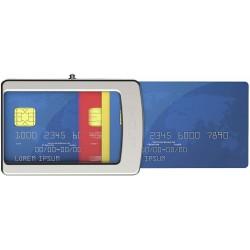 IClip Classico Smart Wallet Mini Portafoglio Unisex Blu Vera Pelle