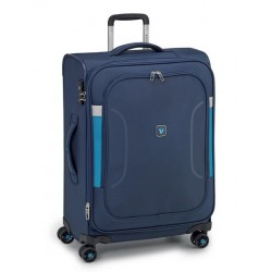 Roncato Trolley Grande Espandibile 4 Ruote Blu 414621 city break