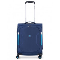 Roncato Trolley Cabina Ryanair Espandibile 4 Ruote Blu 414623 city break