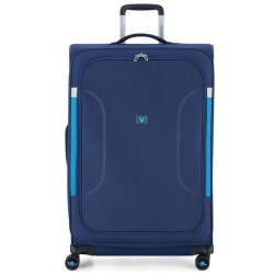 Roncato Trolley Medio Espandibile 4 Ruote Blu 414622 city break